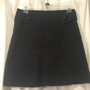Anthropologie Sitwell black a-line skirt